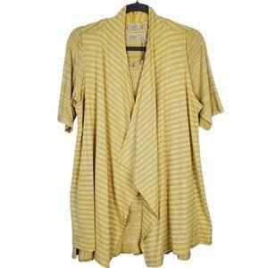 LOGO by Lori Goldstein Stripe Top Vest Twin Set M